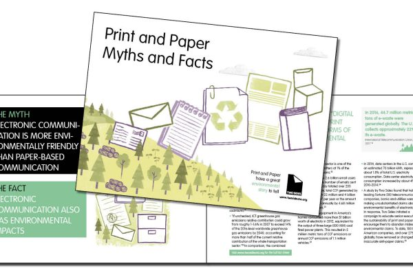 "Two Sides releases new ""Print and Paper Myths and Facts"" booklet for North America"